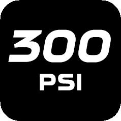 300 psi