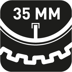35mm Vebtillänge