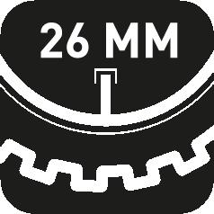 26mm Ventillänge