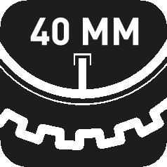 40mm Ventillänge