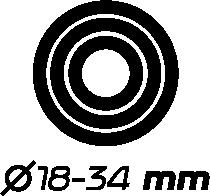 Ø 18 - 34 mm
